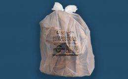 El desglose de plástico biodegradable, descompuesto.