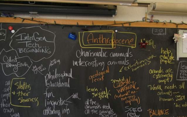 A fifth-grade classroom in Emerson School, Ann Arbor, Michigan ©Connie Weber