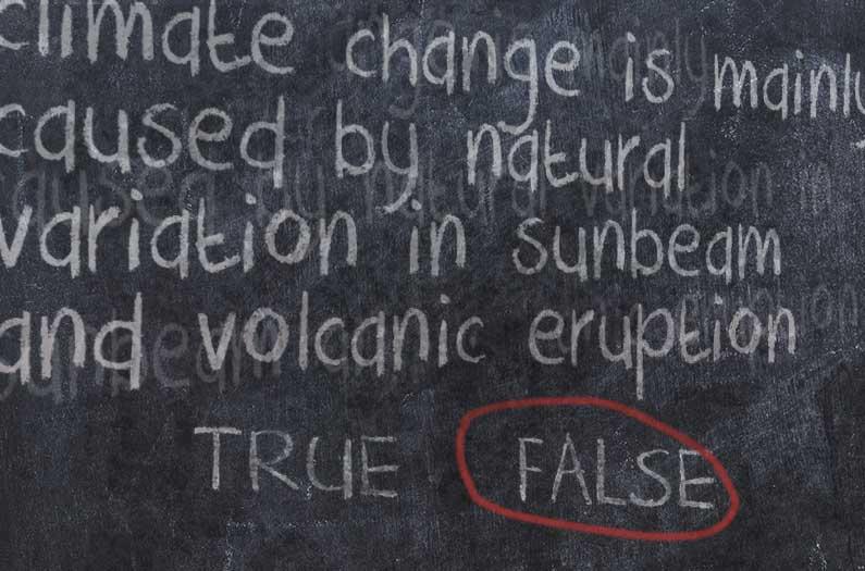 Las personas tienen más problemas para identificar falsedades climáticas que verdades