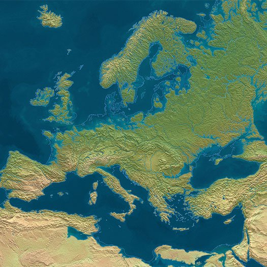 Europe in an ice-free world
