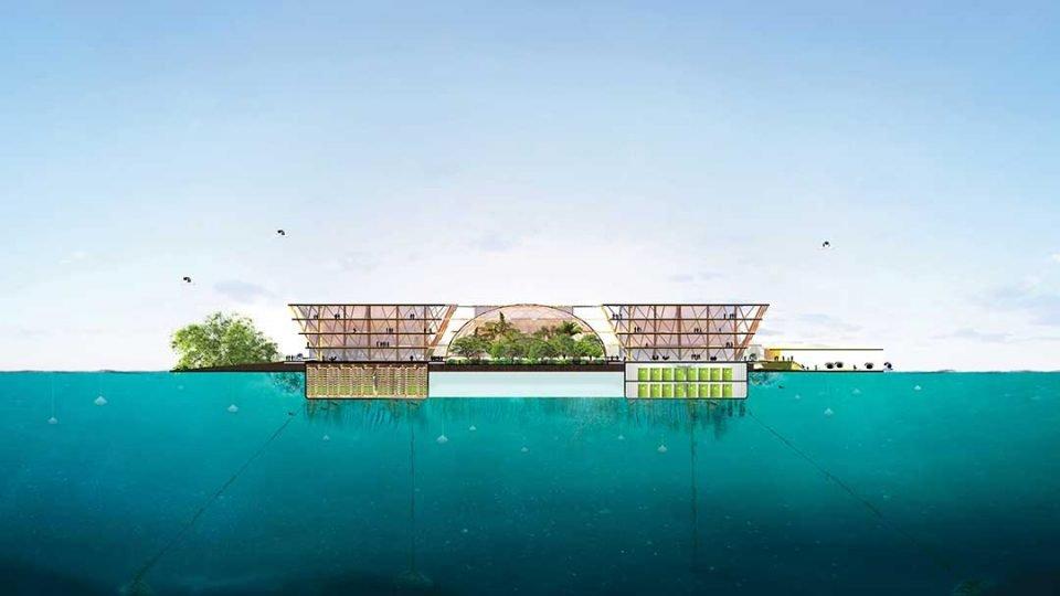 Oceanix floating city | Anthropocene