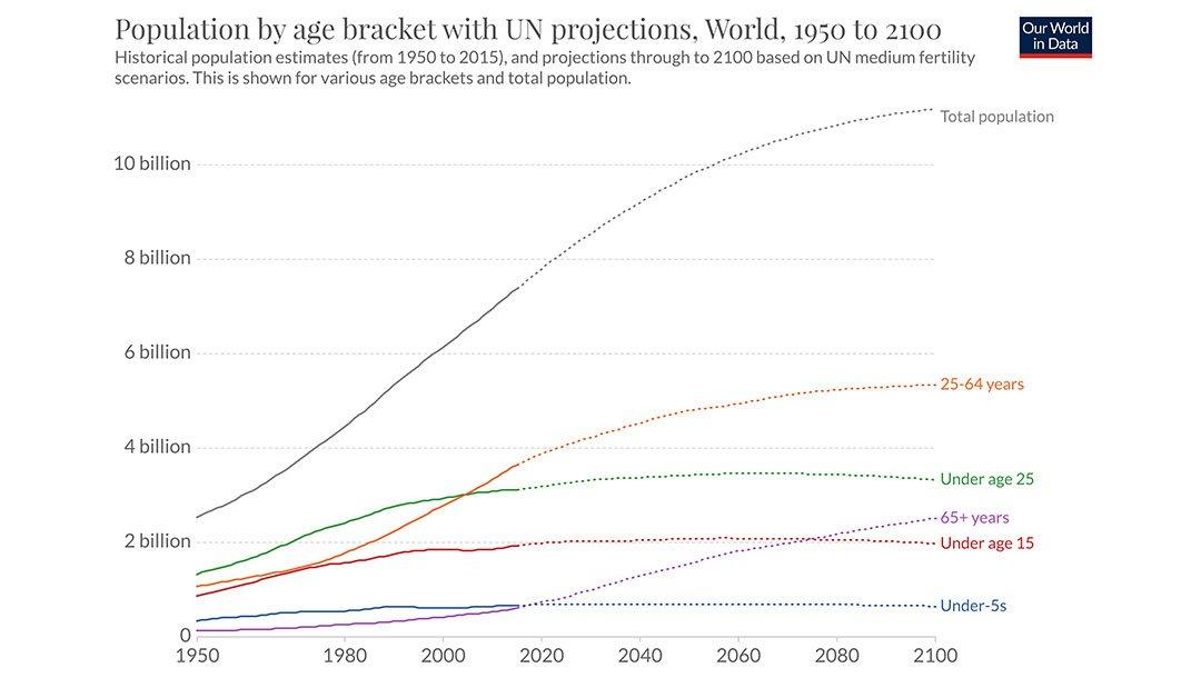 World Population by Age Bracket