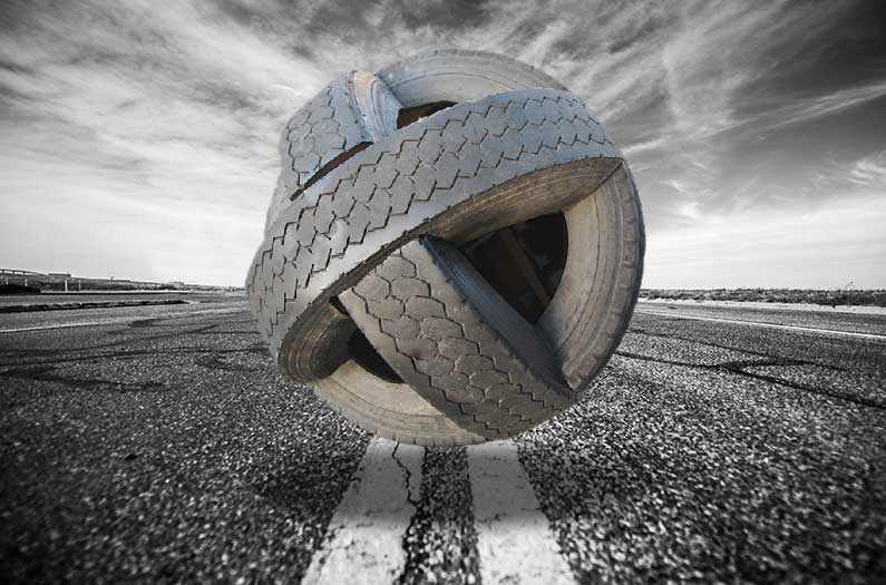 Blending scrap tires with concrete rubble for sustainable, durable roads