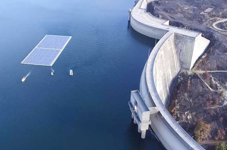 The immense potential of solar panels floating on dams
